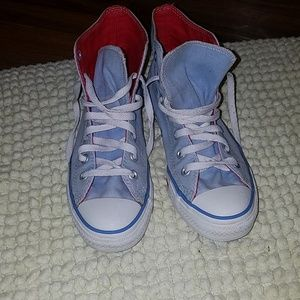 Converse all star red, white, blue